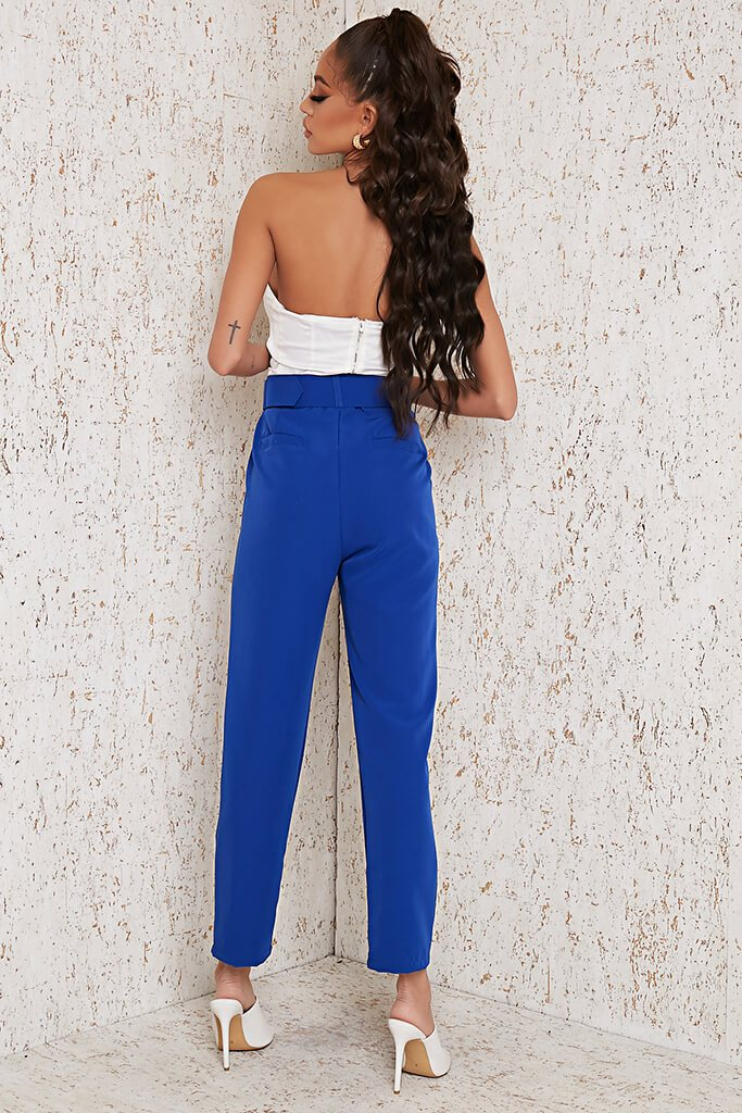 Cobalt Blue Belted Trouser view 5