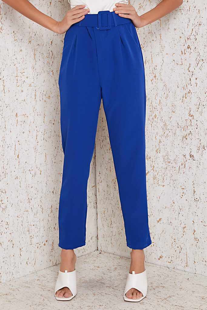 Cobalt Blue Belted Trouser view 2