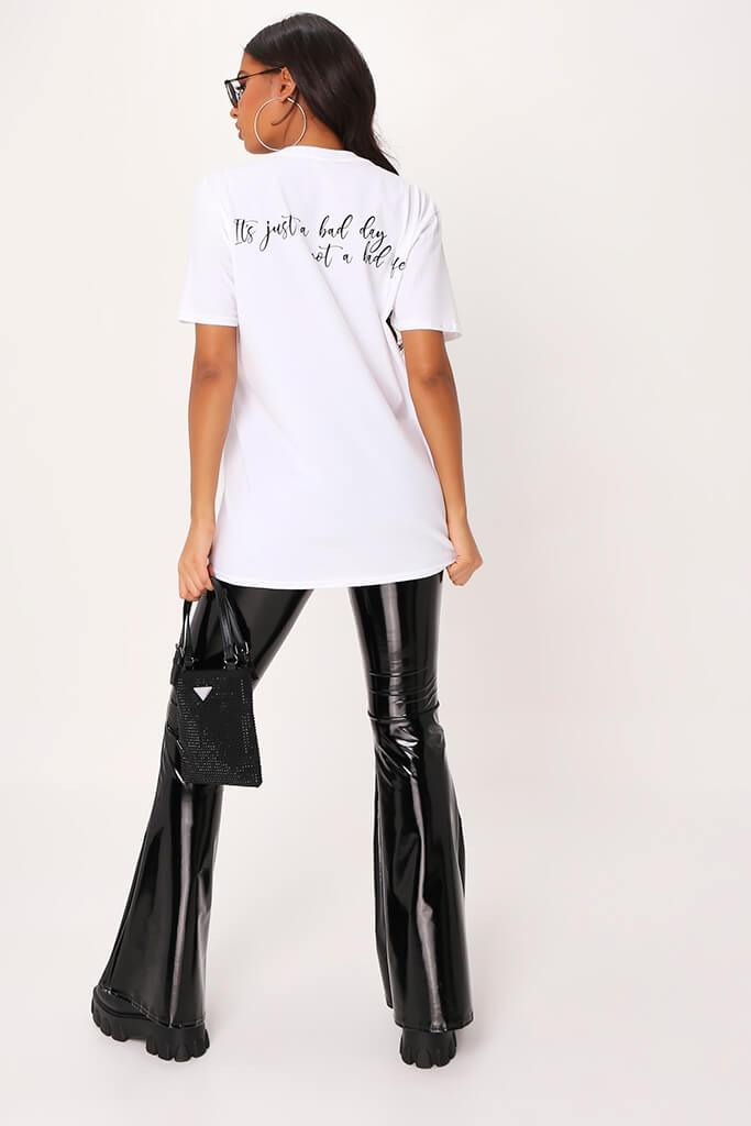 White 'It's Just A Bad Day' Oversized T-Shirt view 5