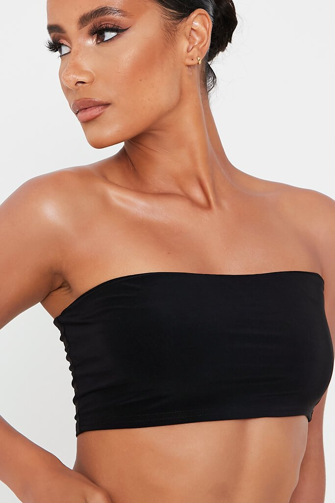Black Double Layer Soft Touch Bandeau view 4