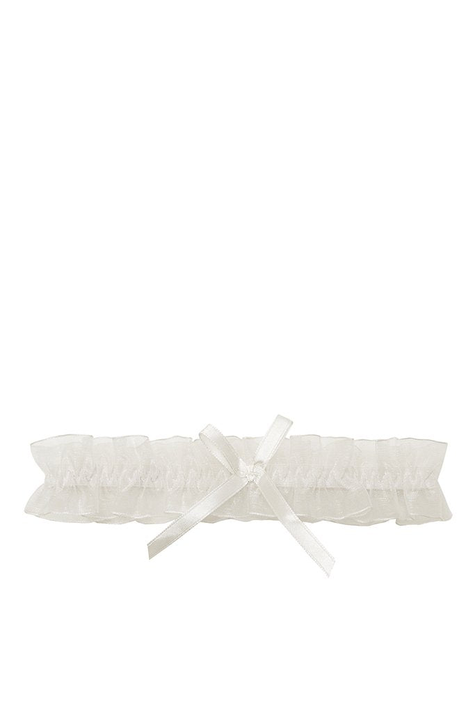 White Bridal Garter view main view