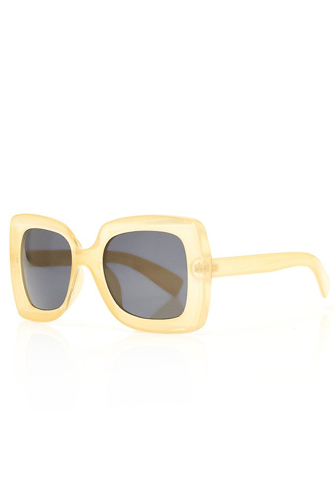 Cream Chunky Square Sunglasses view 3
