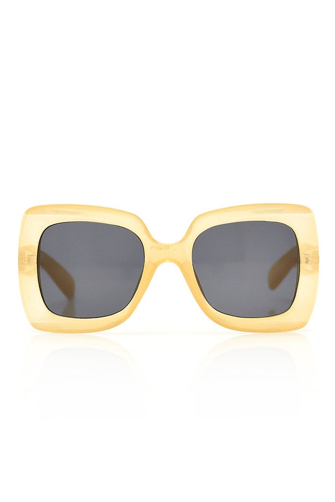 Cream Chunky Square Sunglasses view 4