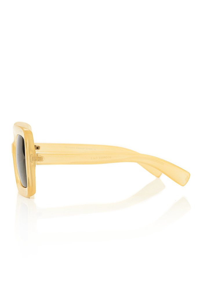 Cream Chunky Square Sunglasses view 5