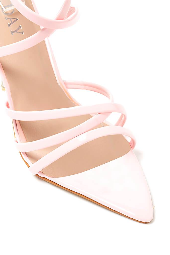 Baby Pink Strappy Pointed Heel view 2