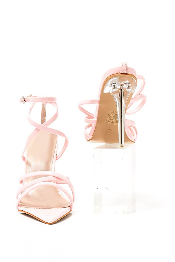 Baby Pink Strappy Pointed Heel view 3
