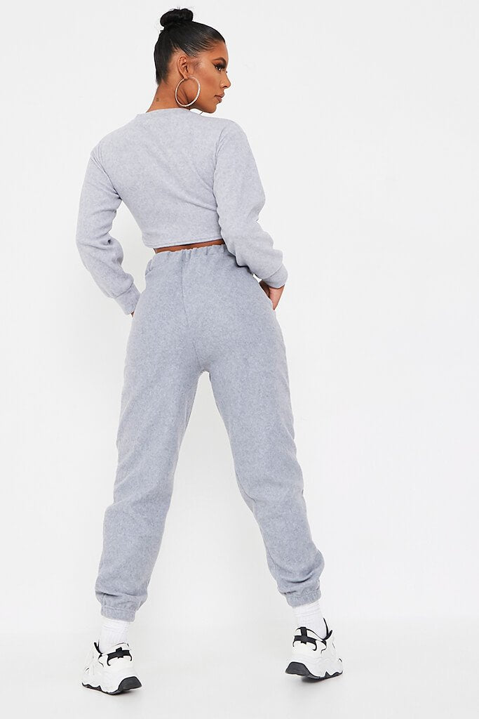 Grey Brushed Sweat Oversized Jogger view 5