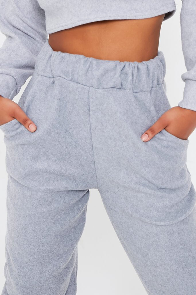 Grey Brushed Sweat Oversized Jogger view 4
