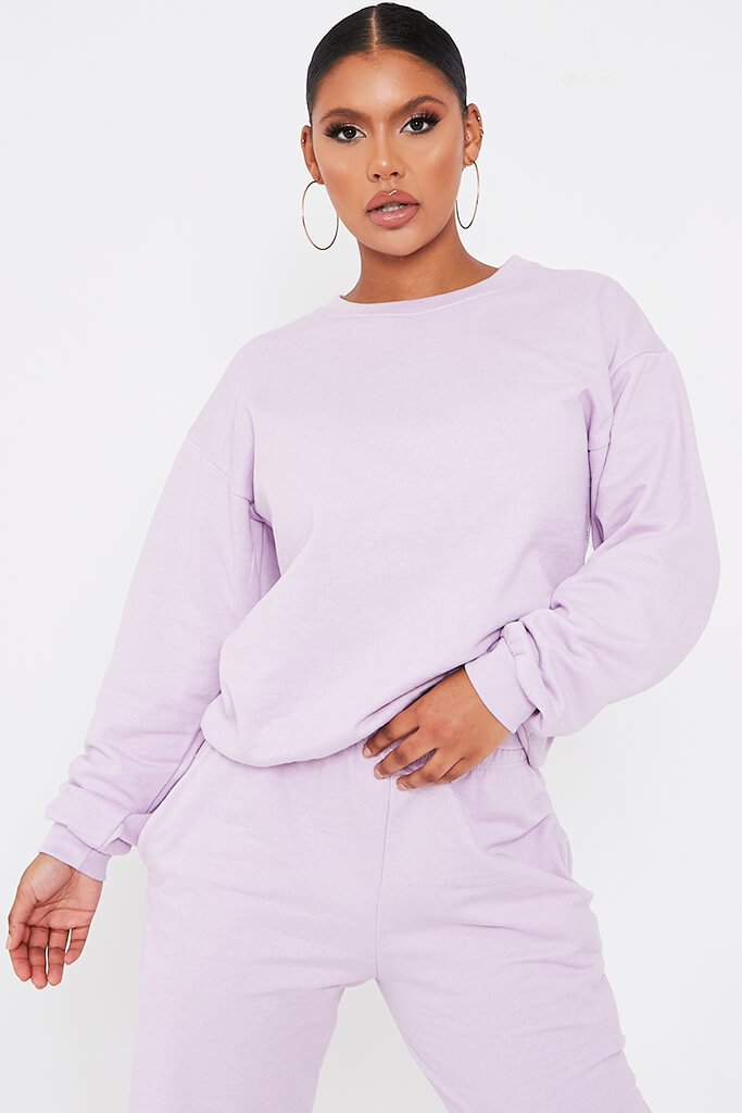 Lilac Basic Sweatshirt