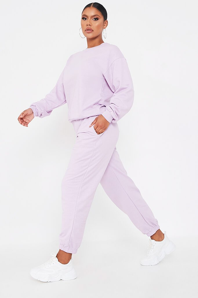 Lilac Basic Sweatshirt view 3