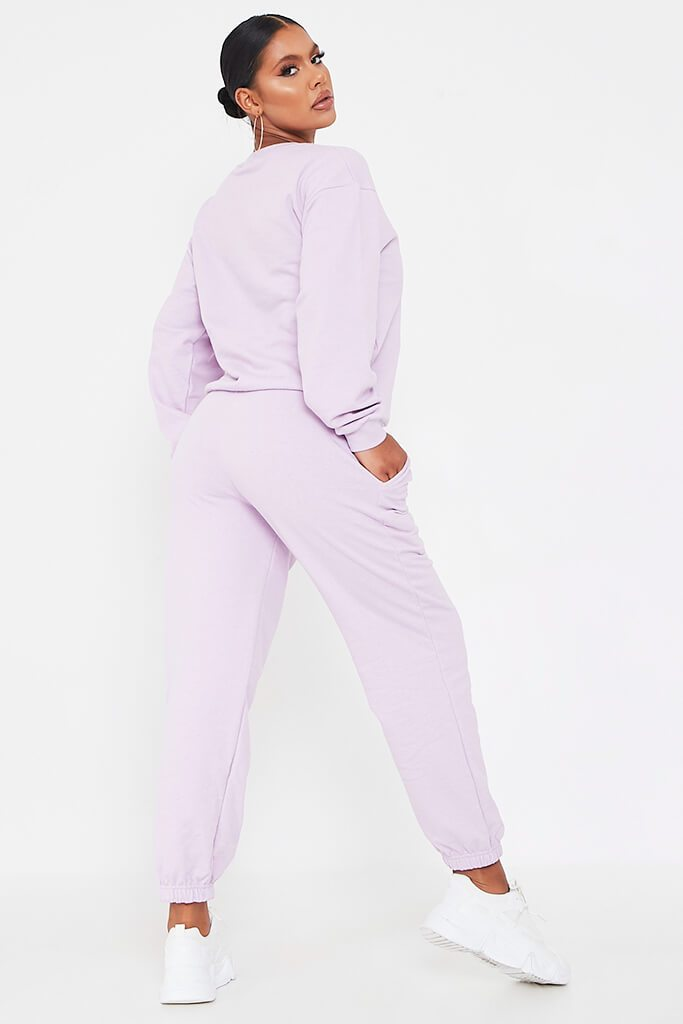Lilac Basic Sweatshirt view 5