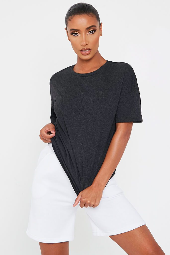 Charcoal Oversized Crew Neck T-Shirt