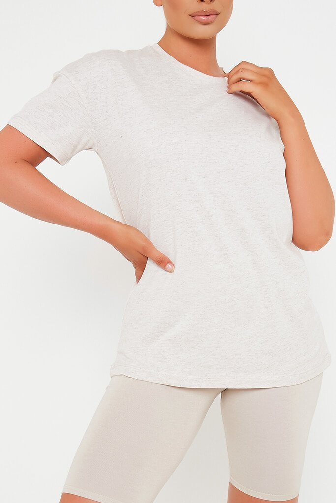 Oatmeal Oversized T-Shirt view 4