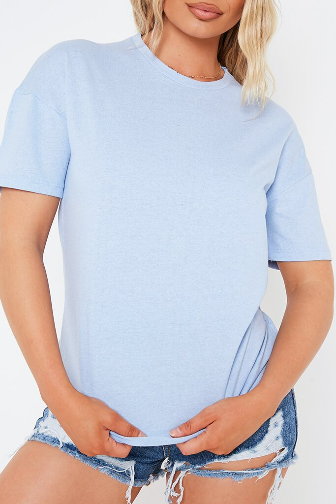 Sky Blue Oversized T-Shirt view 4