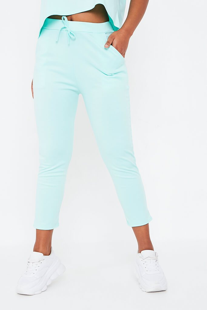 Mint Green Boxy Lightweight Ponte Loungewear Set view 4