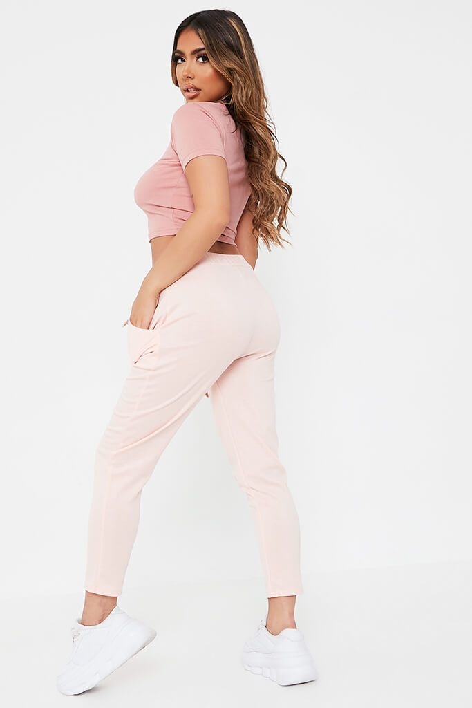 Pink Boxy Ponte Lightweight Jogger view 5