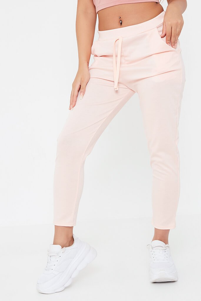 Pink Boxy Ponte Lightweight Jogger view 2