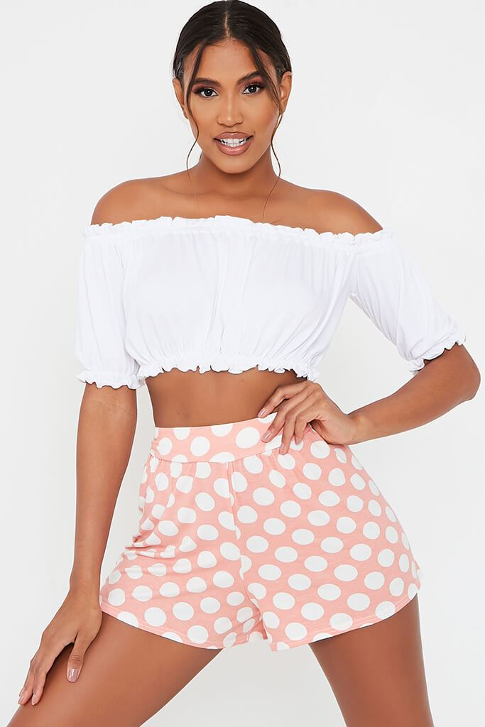 Baby Pink High Waisted Flippy Shorts
