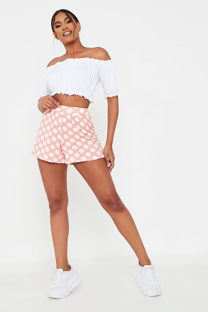 Baby Pink High Waisted Flippy Shorts view 2