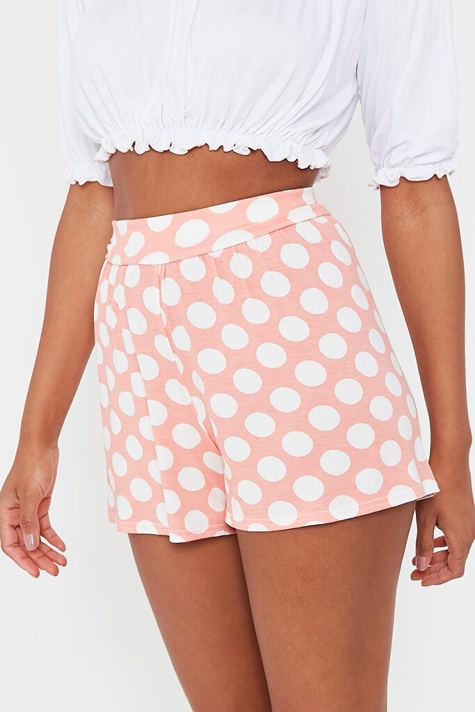 Baby Pink High Waisted Flippy Shorts view 4