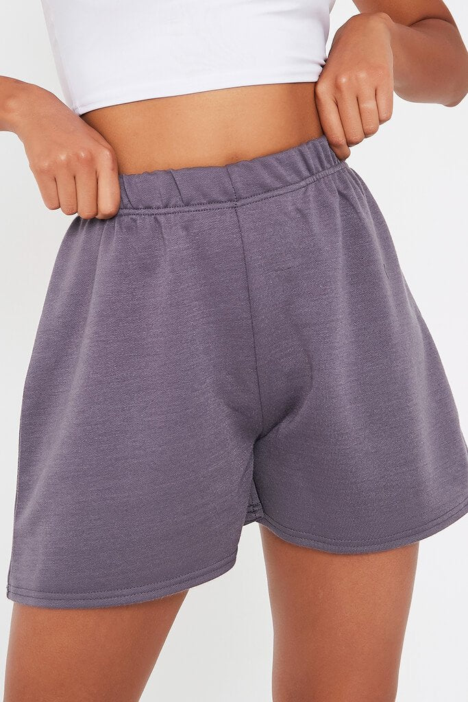 Charcoal Casual Jogger Short view 4