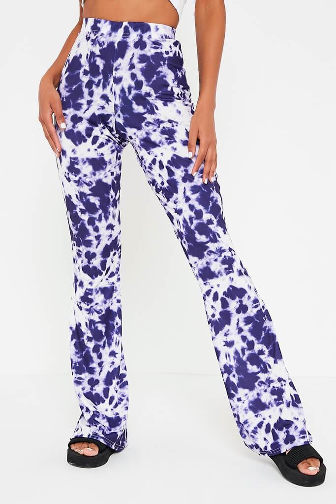 Navy Tie Dye Flare Trouser view 2