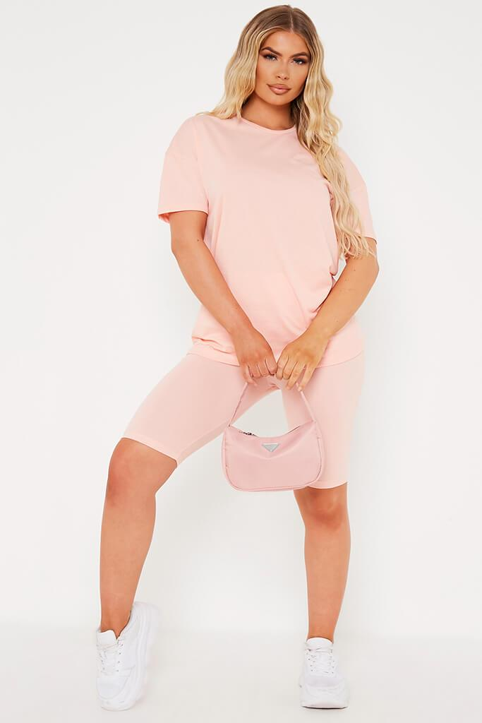 Coral Basic Oversized T Shirt view 2