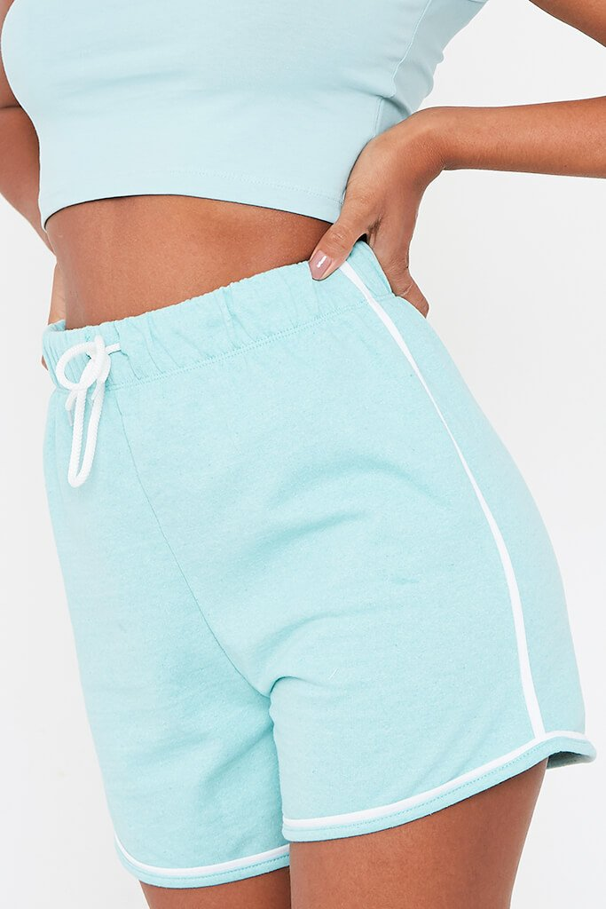 Mint Green Fleece Runner Short view 4