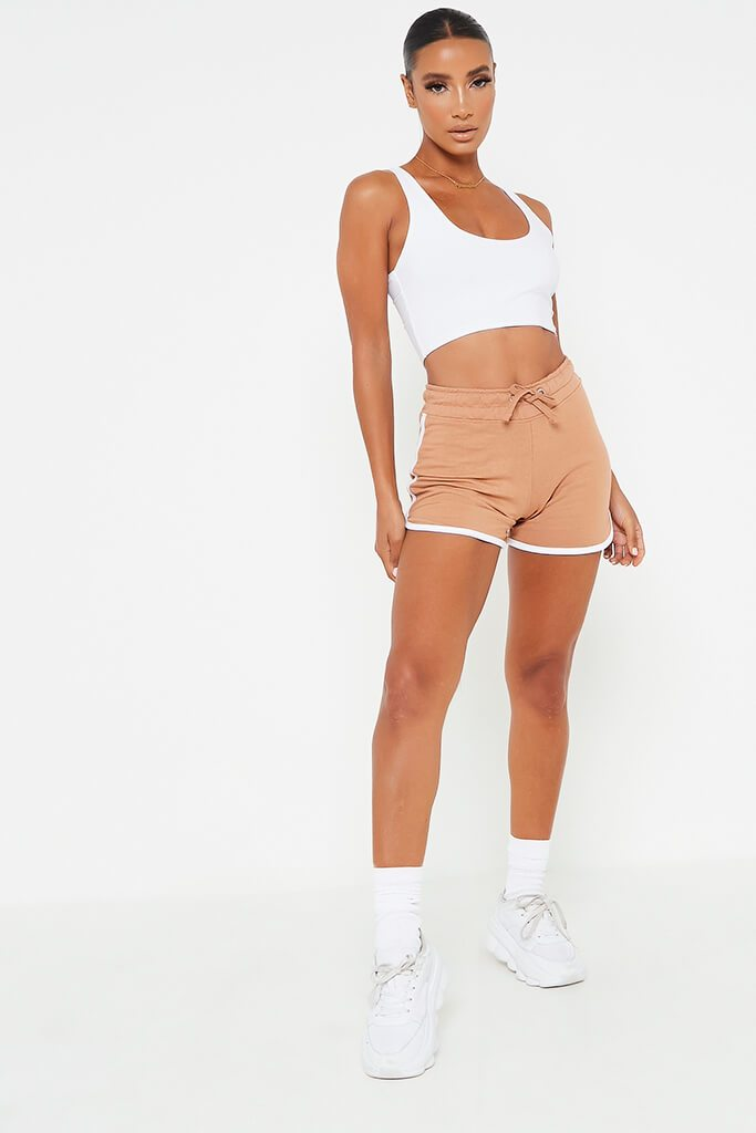 Camel Side Stripe Runner Short view 2