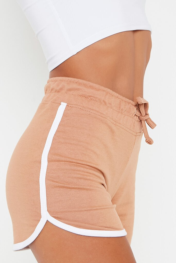 Camel Side Stripe Runner Short view 4