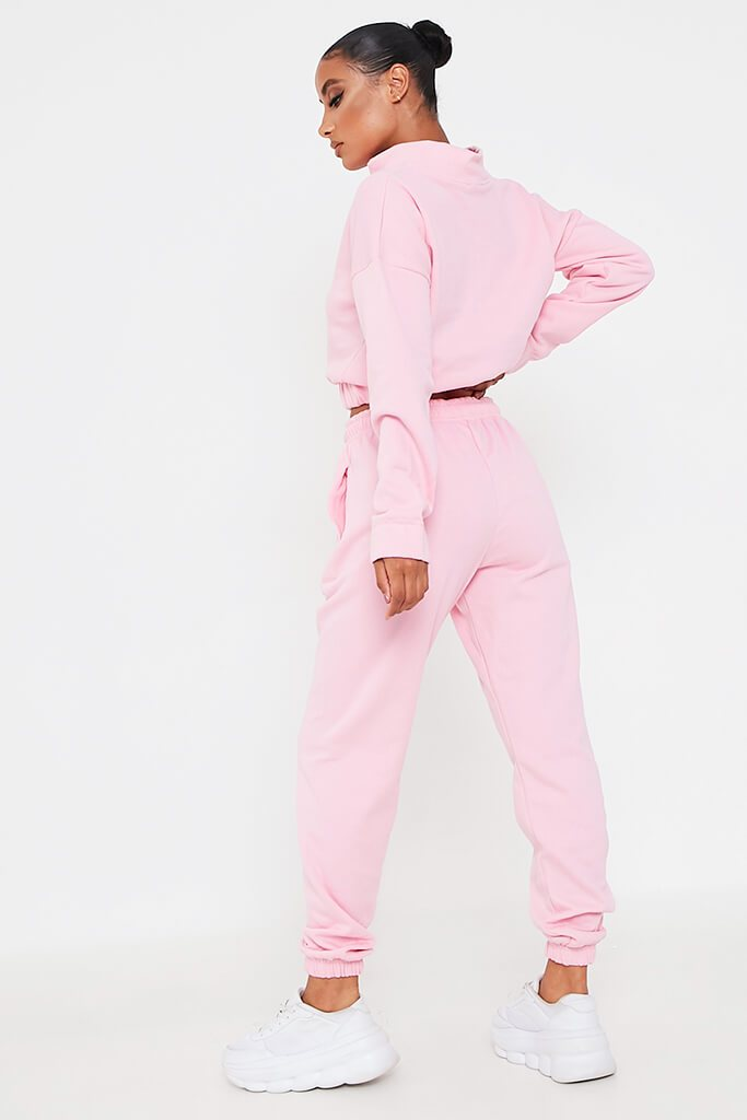 Pink Half Zip Jumper And Joggers Set view 5