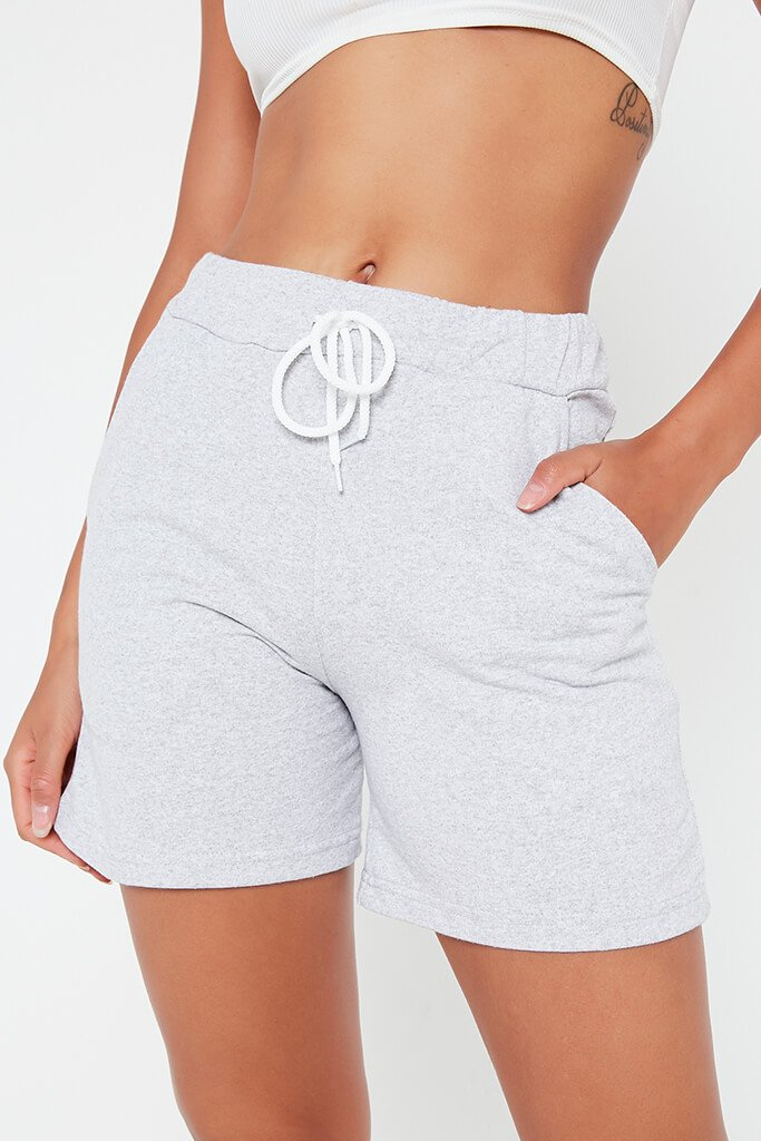Grey Turn Up Drawcord Short view 4