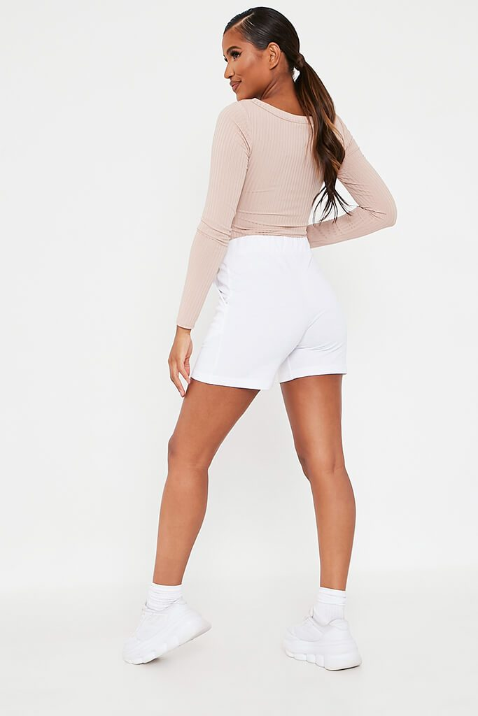 White Turn Up Drawcord Short view 5