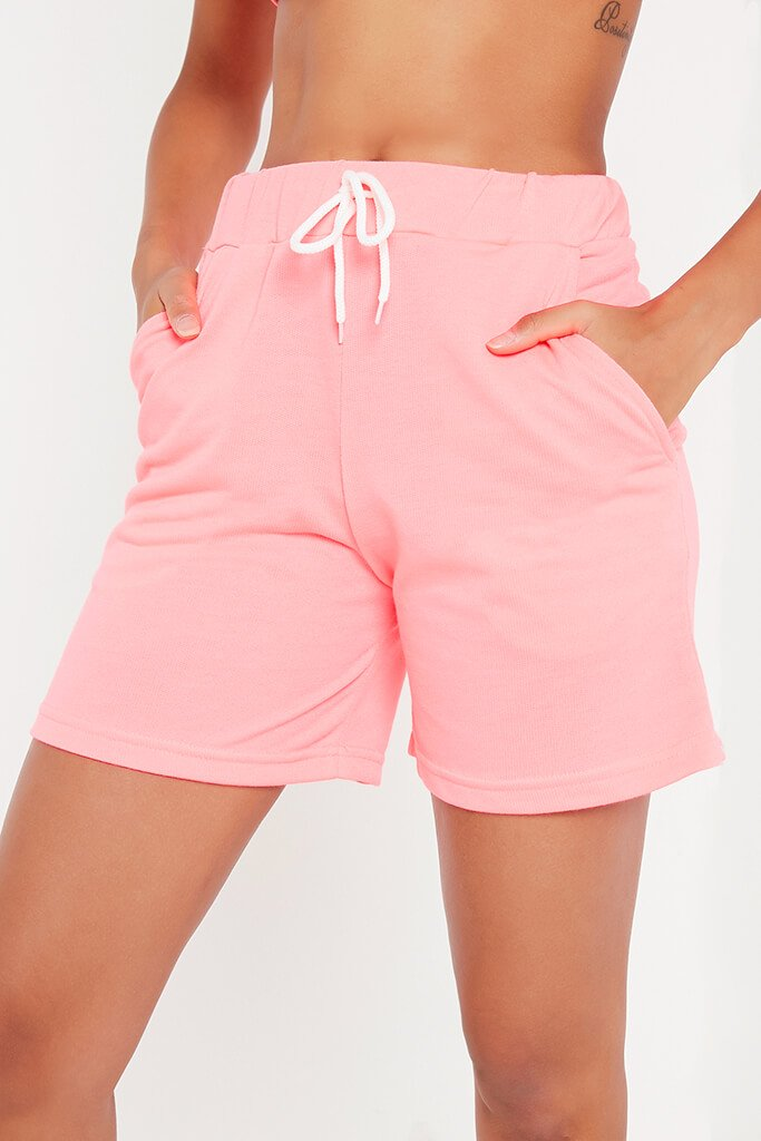Neon Pink Turn Up Drawcord Short view 4