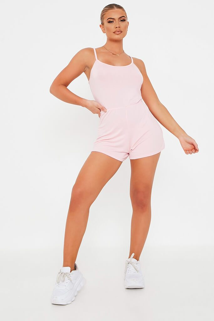 Baby Pink Basic Jersey Playsuit view 2