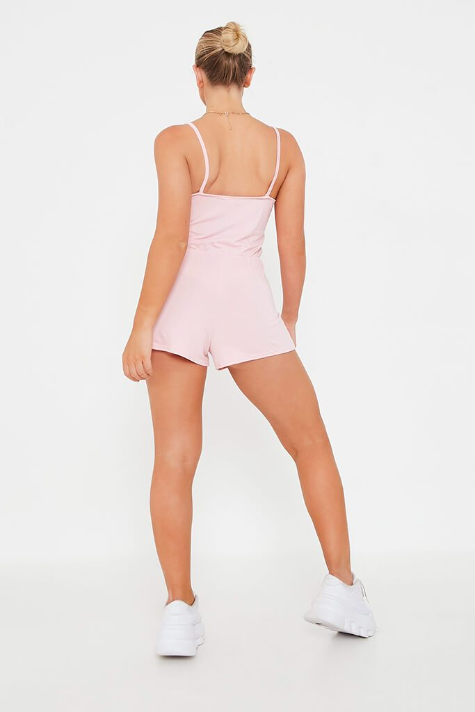 Baby Pink Basic Jersey Playsuit view 5
