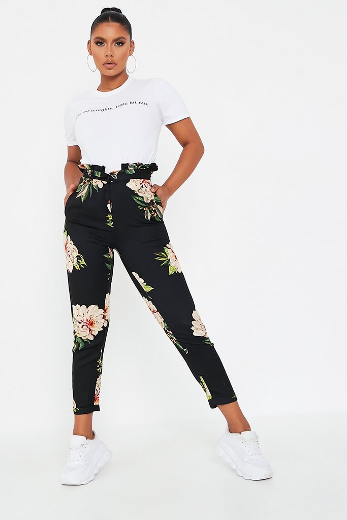 Black Black Floral Trouser Black Black Floral Trouser view main view