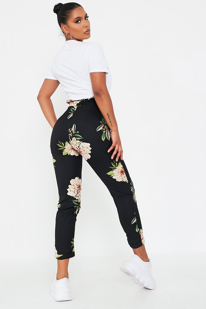 Black Black Floral Trouser Black Black Floral Trouser view 5