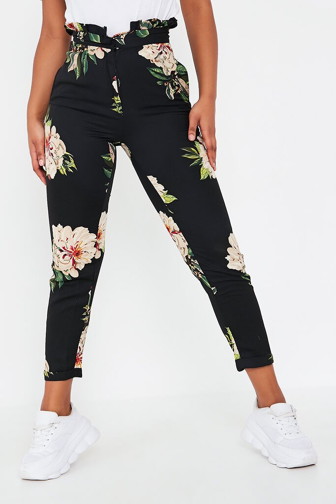 Black Black Floral Trouser Black Black Floral Trouser view 2