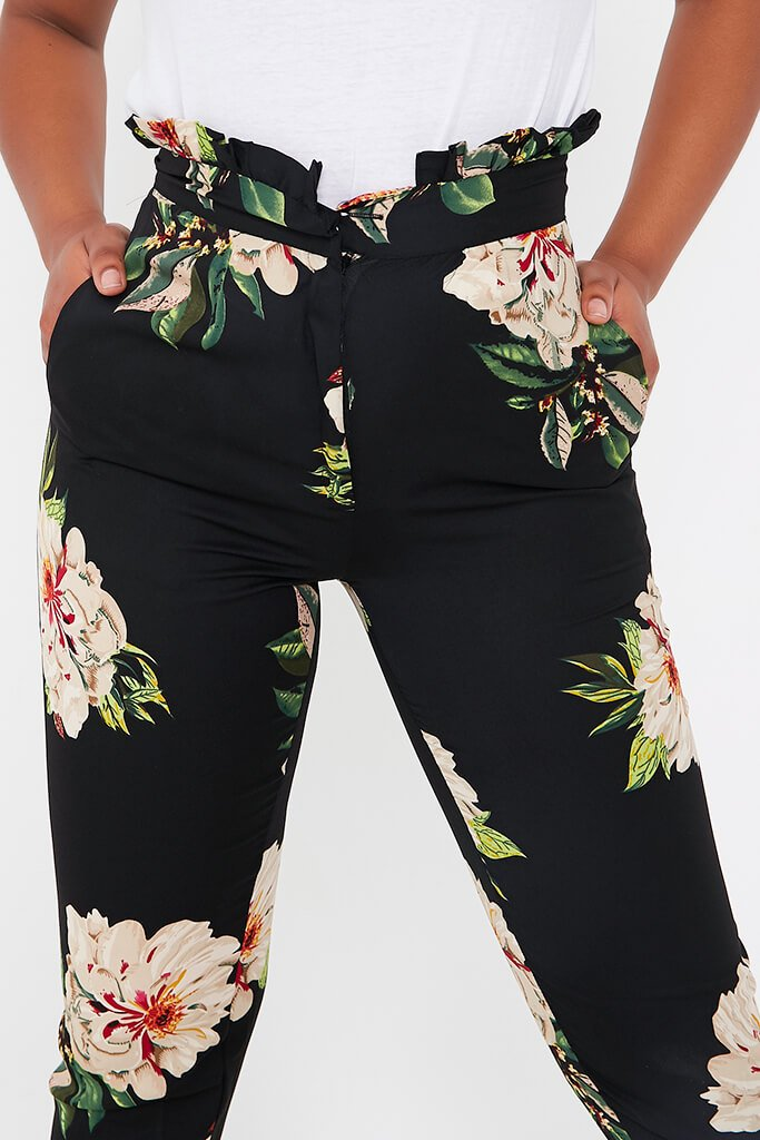 Black Black Floral Trouser Black Black Floral Trouser view 4