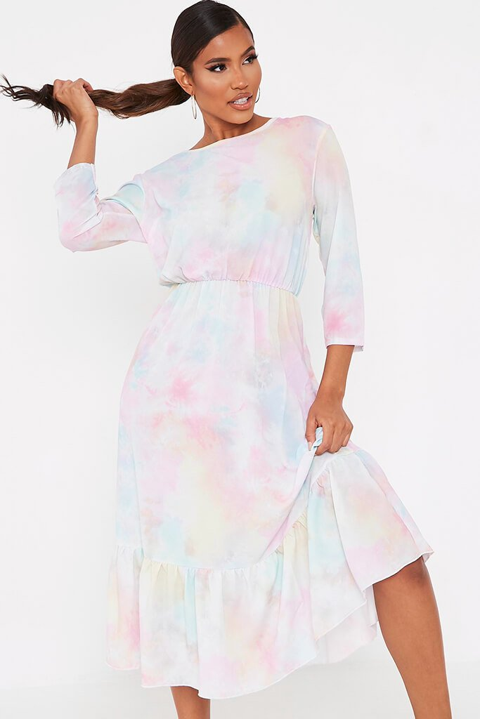 Multi Multi Pastel Tie Dye Midi Dress view 2