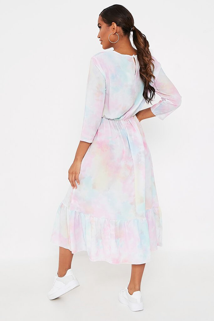 Multi Multi Pastel Tie Dye Midi Dress view 5