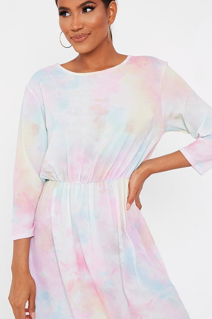 Multi Multi Pastel Tie Dye Midi Dress view 4