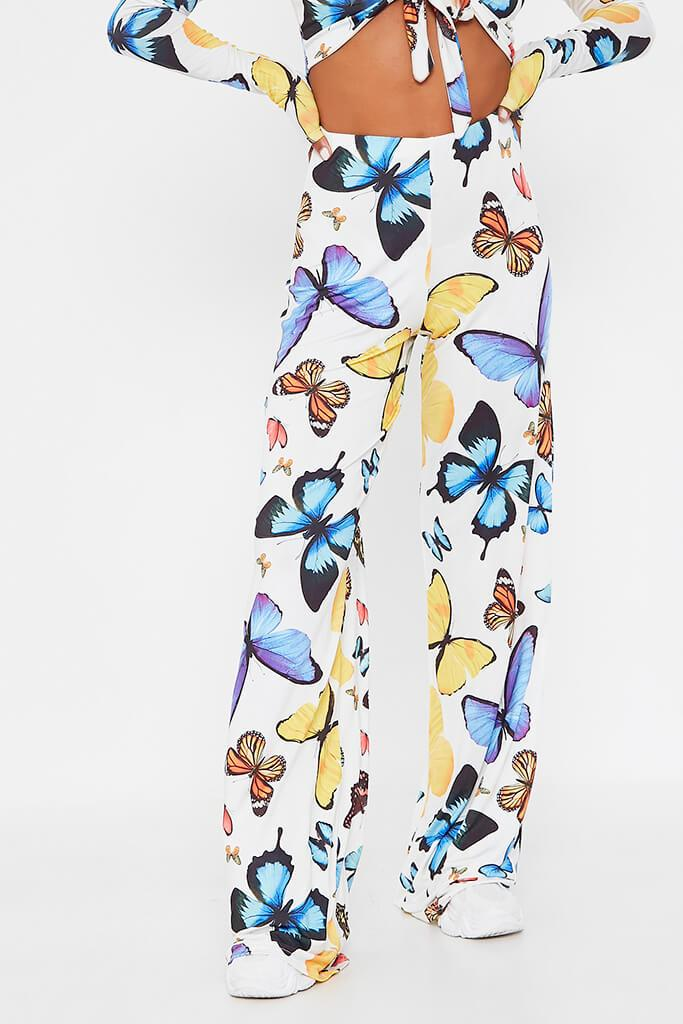 Multi Butterfly Print Wide Leg Trouser view 2
