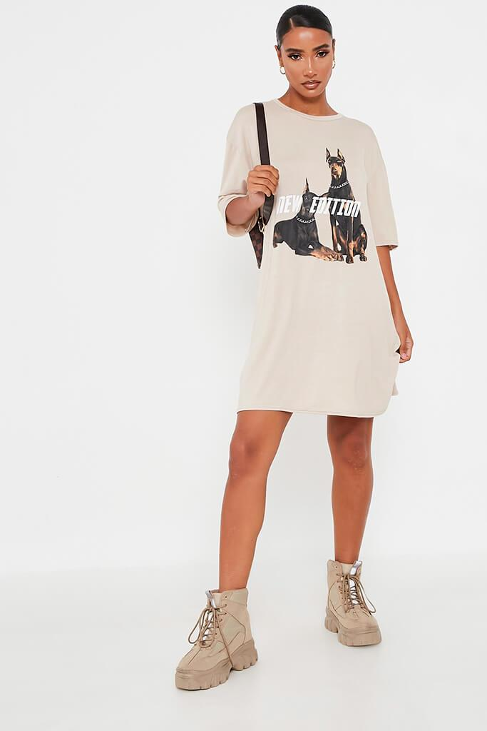 Stone New Edition Cotton Oversized T Shirt Dress view 2
