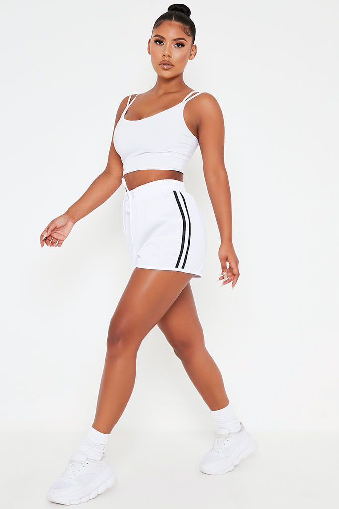White Sporty Runner Short view 3