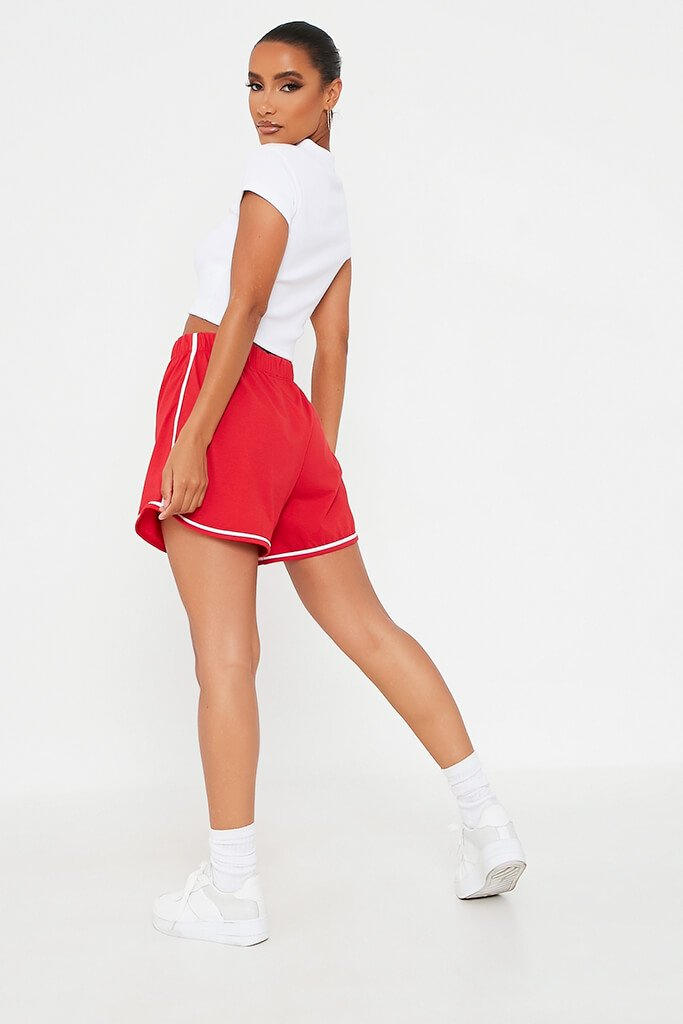 Red Side Stripe Jogger Short view 5