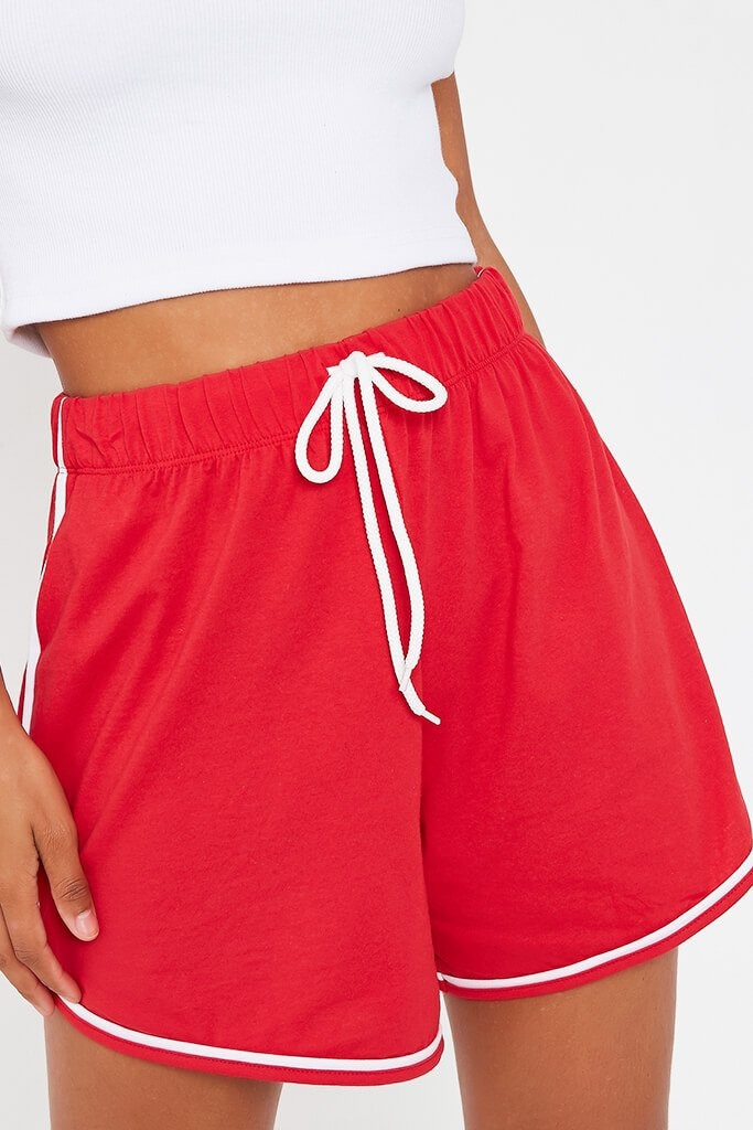 Red Side Stripe Jogger Short view 4