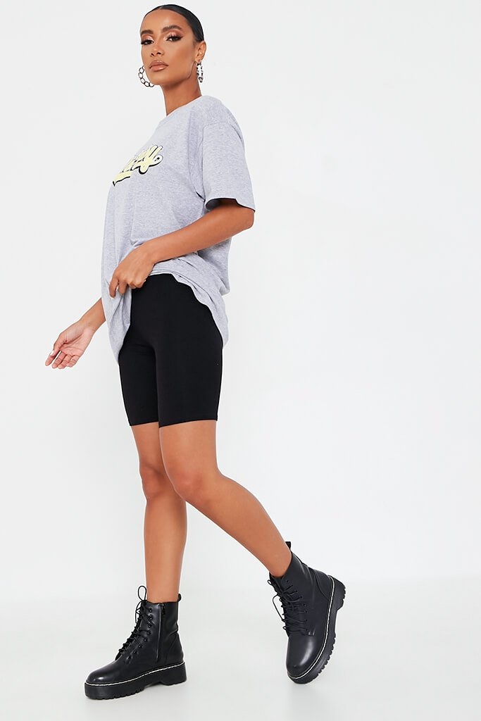 Grey Marl 80'S Baby Oversized T-Shirt view 3