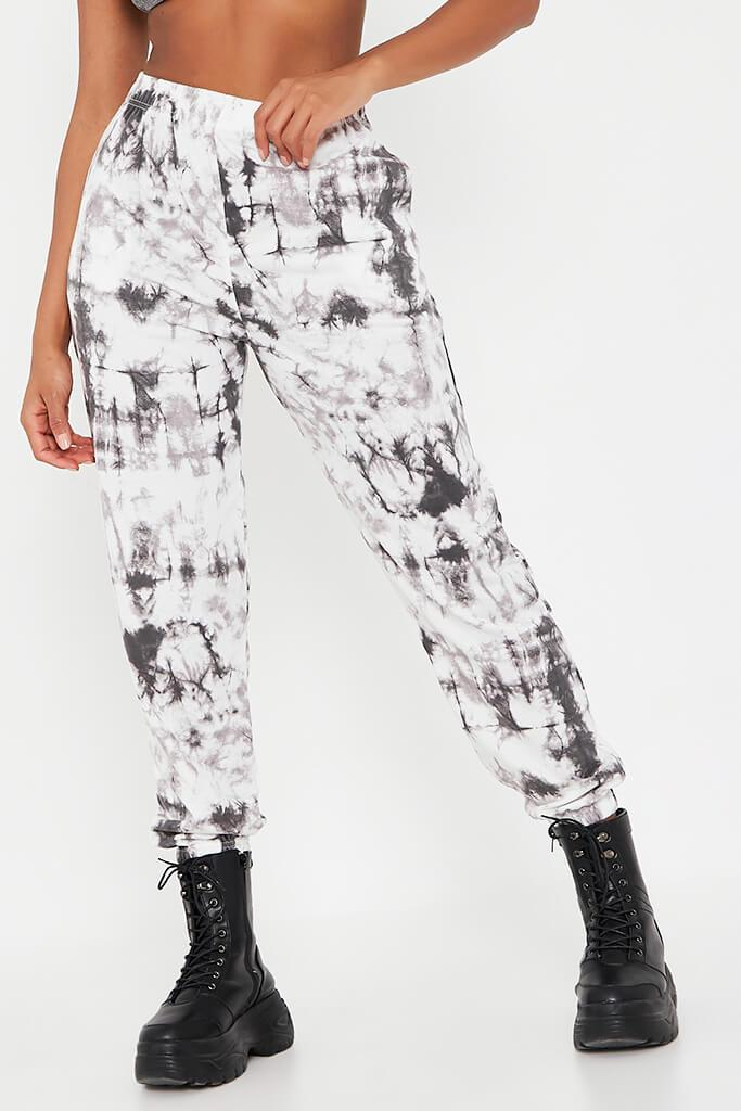 Black Tie Dye Elasticated Waist Casual Joggers view 2
